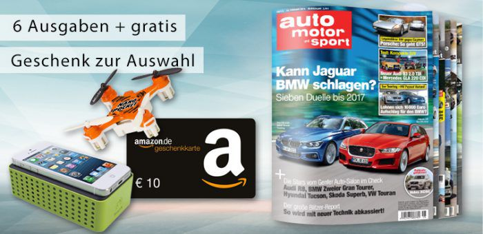 6 Ausg. auto motor und sport + Prämie für 16,80€