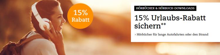 15% Rabatt auf Hörbücher bei Thalia