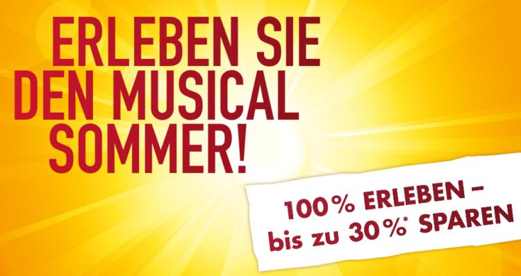 Stage Entertainment: Musicaltickets mit bis zu 30% Rabatt