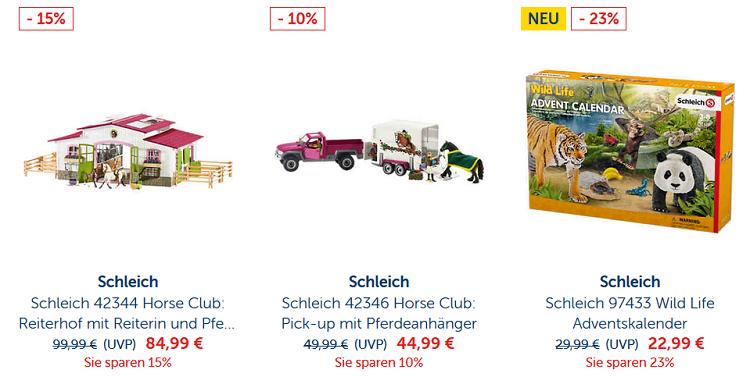 Schleich Spielzeug Figuren mit 15% Rabatt (MBW 29€) bis Mitternacht