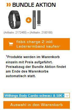 Fitbit Charge 2 Large + Lederarmband + Withings Body Cardio + 50€ Gutschein für 244€