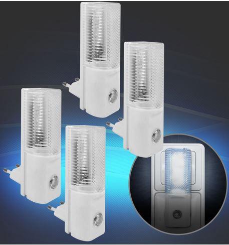Woolworth LED Nachtlichter im 4er Set für 9,99€