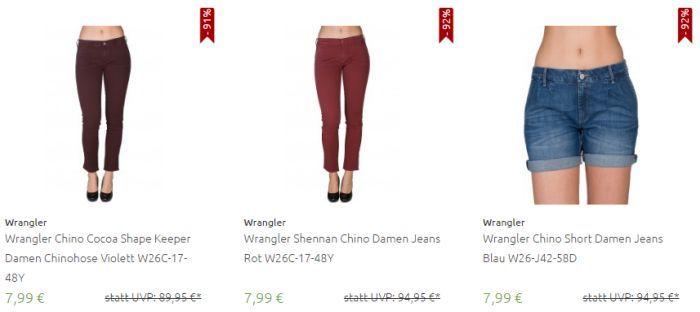 Verschiedene Wrangler Jeans (Damen/Herren) ab 7,99€