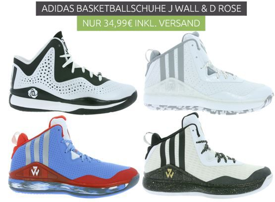 adidas Performance J Wall Herren Basketball Schuhe für 34,99€ (statt 45€)