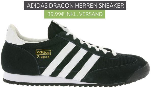 adidas Originals Dragon Herren Sneaker   Restgrößen für 39,99€ (statt 58€)