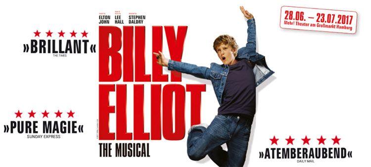 Musical Billy Elliot in Hamburg inkl. ÜN mit Frühstück ab 109€ p.P.