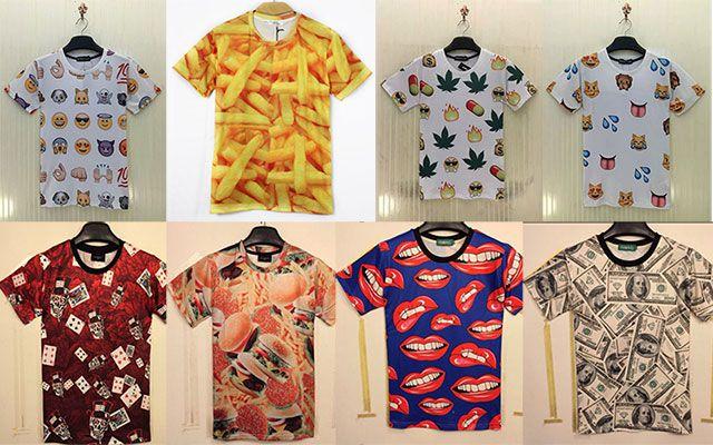 Ausgefallene T Shirts im 3D Druck Motiv für je 10,42€