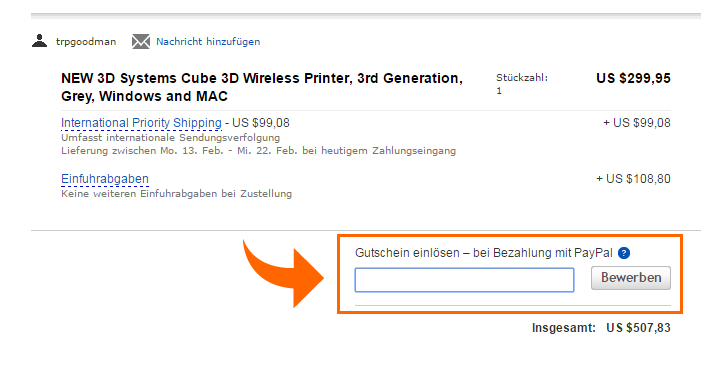 ebay paypal gutschein1 eBay