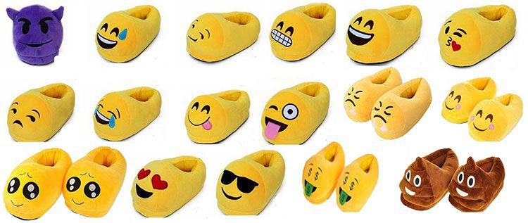 Emoji Hausschuhe in versch. Designs für je 6,43€