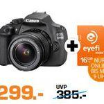 Saturn Super Sunday Deals – z.B. CANON EOS 1200D + Eyefi 15-55 Objektiv für 299€ (statt 370€)
