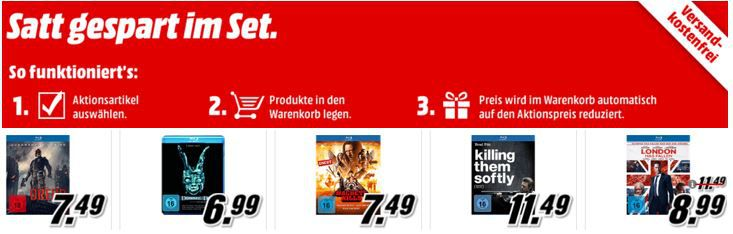 gespart im Set 3 Blu rays für 15€   im Media Markt Dienstag Sale