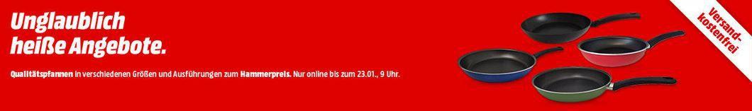 heisse Angebote Media Markt Pfannenwoche   z.B. TVS Alice Bratpfanne für 5,00€