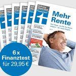 """6 Ausgaben Finanztest für 29,95€ + gratis Buch """"Alles über Fonds"""" & Notizbuch"""
