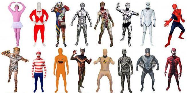 Verschiedene Morphsuit Kostüme ab 14€