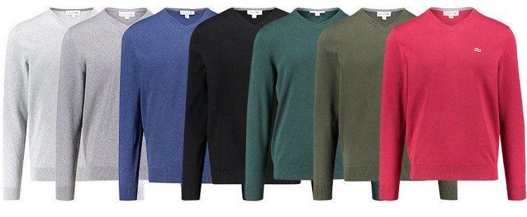 Lacoste Herren Langarm V Neck Pullover für je 59,90€