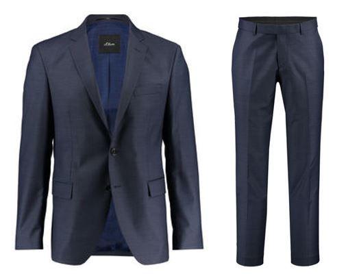 s.Oliver Triest   Herren Anzug statt 169€ für 84,91€