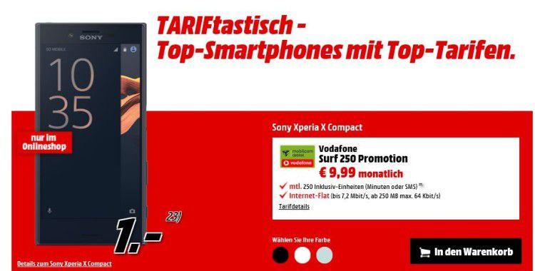 Geht noch! Sony Xperia X Compact für 280,75€ dank Schubladenvertrag (statt 340€)