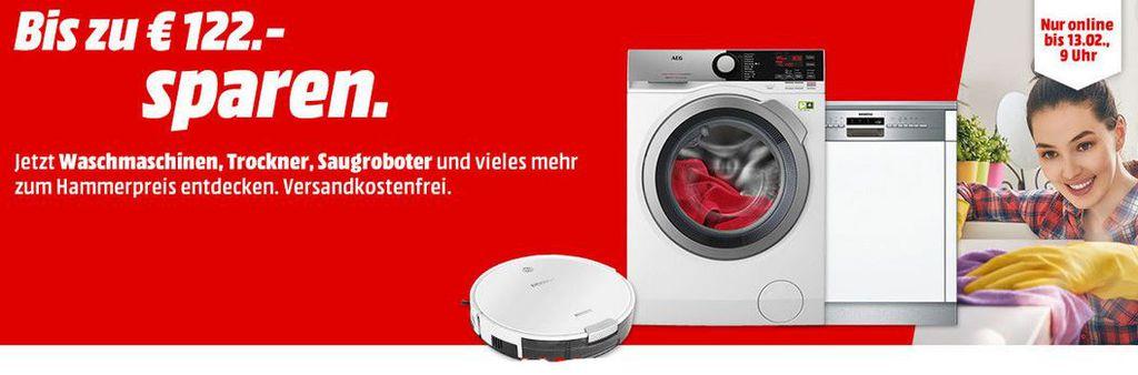 Media Markt Frühlingsputz   günstige Waschmaschinen , Trockner und Saugroboter