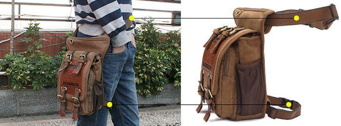 Kaukko Umhängetasche für Herren (5L) in khaki für 19,22€ (statt 30€)