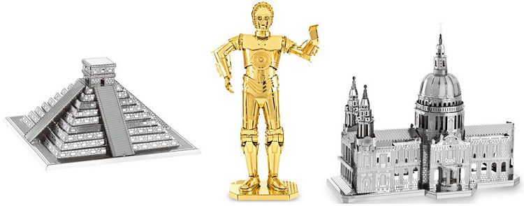 3D Puzzle aus Metall in verschiedenen Motiven ab 2,64€