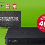 freenet TV (DVB-T2) + Samsung Receiver (einmalig 49,95€) für 5,75€ mtl. – kostenlos bis zum 31.07.2017