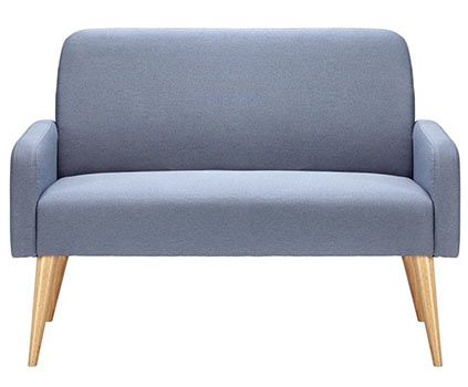 Sofa (Zweisitzer) in Grau blau Mireille für 98,95€