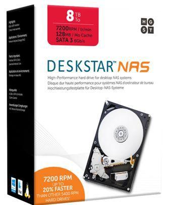 8TB NAS Festplatte HGST 8 TB Interne HDD 24/7 NAS Festplatte für 265€ (statt 305€)