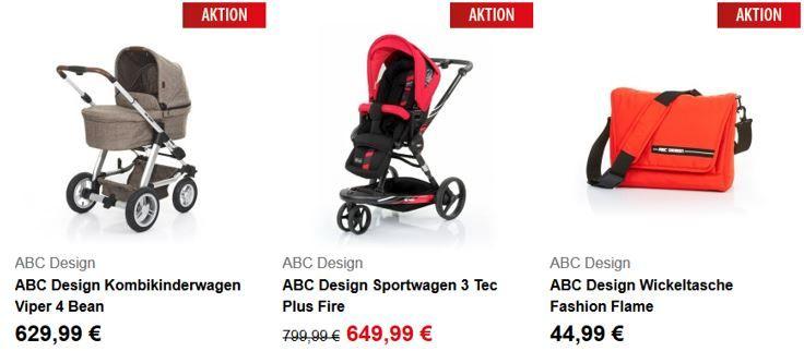 ABC Design 3 Tec Plus Fire   Kinder Sportwagen: dank Gutscheinaktion statt 649€ für 519,99€