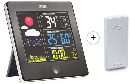 ADE Funk Wetterstation WS1403 mit Aussensensor und Farbdisplay für 21,89€