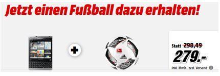 Adidas Torfabrik BLACKBERRY Passport Silver Edition Smartphone 32 GB + Adidas Fußball für 279€