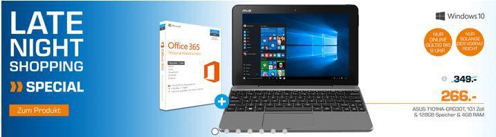 Asus Tablet Asus Transformer Book T100HA FU030T   10 Zoll Tablett + Office 365 für 266€