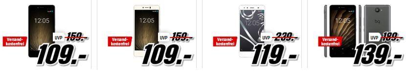 Media Markt BQ Smartphone Tiefpreisspätschicht   z.B. BQ Aquaris U Lite 1 Dual SIM für 109€