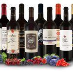 12 verschiedene Rotweine im XXL-Paket für 49,99€