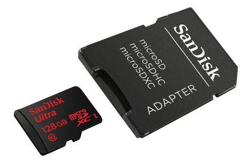 Sandisk Mobile Ultra microSD mit 128GB + 10 Jahren Garantie für 34,90€
