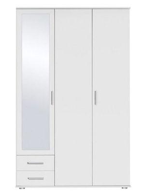 Drehtürenschrank in Alpinweiß mit Spiegeltür für 89,85€ (statt 139€)