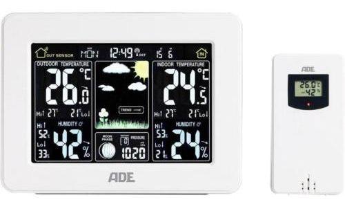 ADE WS 1502 Funk Wetterstation mit Außensensor und Farbdisplay für 24,99€ (statt 55€)