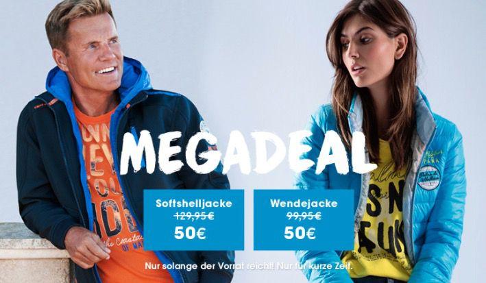 Camp David Herren Softshelljacke oder Damen Wendejacke jeweils nur 54,95€ (statt 80€)