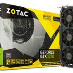 ZOTAC GeForce GTX 1070 AMP! Extreme 8GB Grafikkarte für 449,99€ (statt 494€) + gratis Game