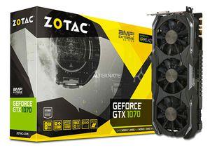 ZOTAC GeForce GTX 1070 AMP! Extreme Core 8GB Grafikkarte für 320,99€ (statt 475€)