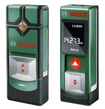 Vorbei! Bosch PLR 15 Laser Entfernungsmesser + PMD 7 Ortungsgerät für 65,50€ (statt 74€)