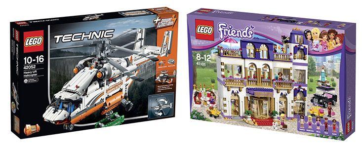 50% Rabatt auf 2ten Lego Artikel bei Karstadt   z.B. 2x Lego Technic Schwerlasthubschrauber ab 150€ (statt 190€)