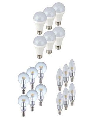 6er Pack Globo LED Leuchtmittel E14/E27 4W/12W für je 13,99€