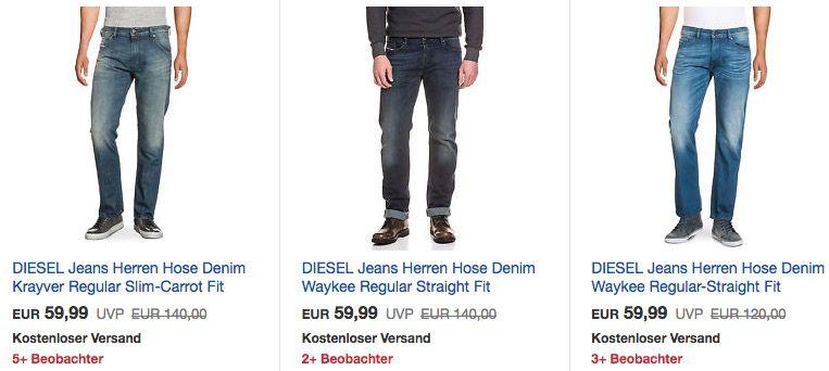 Diesel Jeans Sale mit bis  50% bei eBay   z.B. Diesel Waykee Regular Straight Fit für 50€(statt 80€)