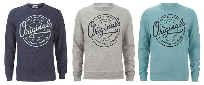 Jack & Jones Mens Originals Tones Sweatshirt für 15,04€ (statt 24€)   nur L oder XL!