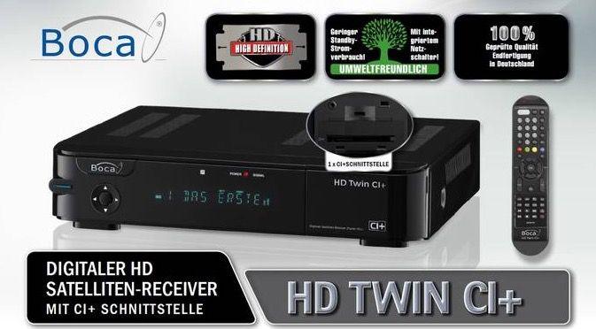 BOCA HD Twin CI+ Sat HDD Recorder mit 1TB für 154,95€ (statt 190€)
