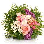 Valentins-Strauß mit Rosen, Chrysantheme, Lisianthus, Alstromerien & Pistazie für 18,90€