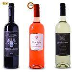 3 Weine (Rot, Weiß, Rosé) für je 2,99€pro Flasche – teilweise mit Gold prämiert