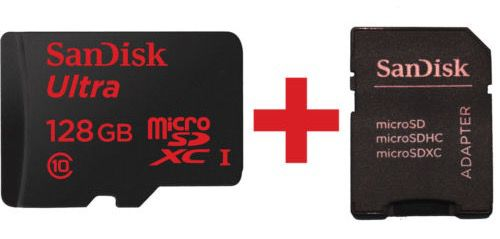 SanDisk Ultra 128GB MicroSDXC Speicherkarte + SD Karten Adapter für 36€ (statt 45€)
