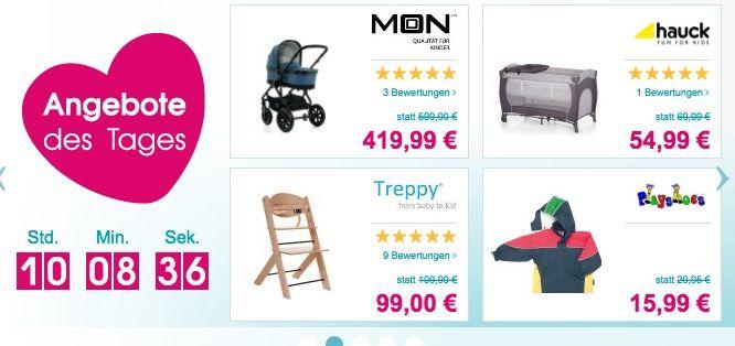 Bis zu 20€ Rabatt beim Babymarkt   z.B. Treppy Hochstuhl für 89€ (statt 102€)