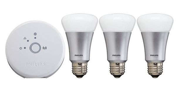 Philips Hue LED Starter Set E27 mit 3 Lampen + Bridge für 113,95€ (statt 155€)   refurbished